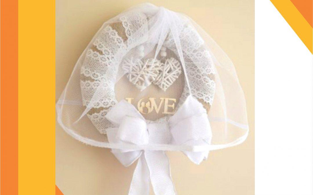 Сватбена декорация: венец за врата