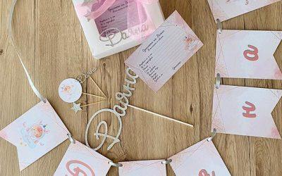 Бебешка погача: Топери за мъфини, банер и карти за пожелания и съвети на орисниците