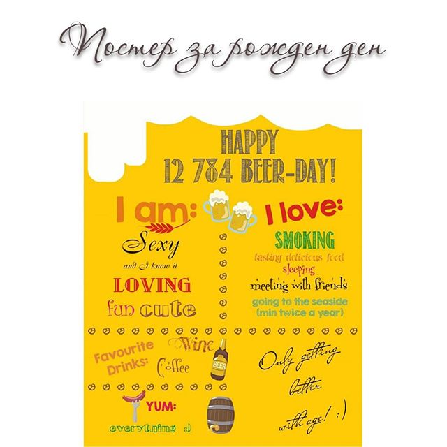 Постер за рожден ден