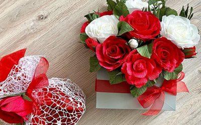 Идея за подарък: Букет от хартиени цветя