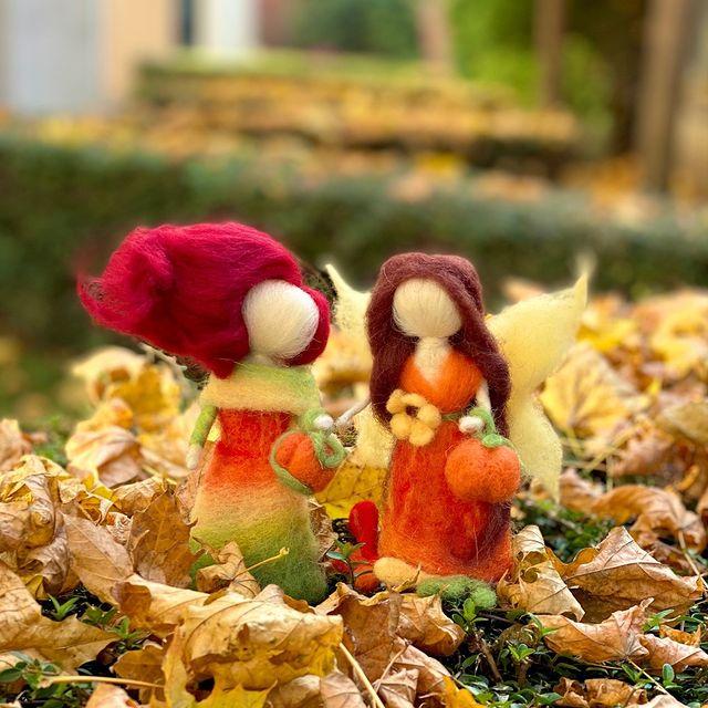 Идея за подарък: Есенни феи от вълна
